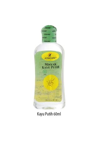 No Color color Body Cream & Oil . KONICARE MINYAK KAYU PUTIH ORIGINAL TUTUP HIJAU 60 ML -