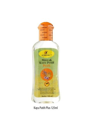 No Color color Body Cream & Oil . KONICARE MINYAK KAYU PUTIH PLUS ANTI NYAMUK TUTUP ORANGE 125 ML -