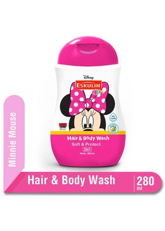 No Color color Body Wash . Eskulin Kids Hair & Body Wash 280ml Botol - Minnie Mouse -