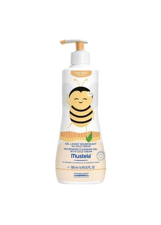 No Color color Body Wash . Mustela Nourishing Cleansing Gel with cold cream Sabun Bayi- LIMITED -