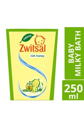No Color color Body Wash . Zwitsal Baby Milky Bath Natural Rich Honey Pouch 250ml Sabun Bayi Cair -