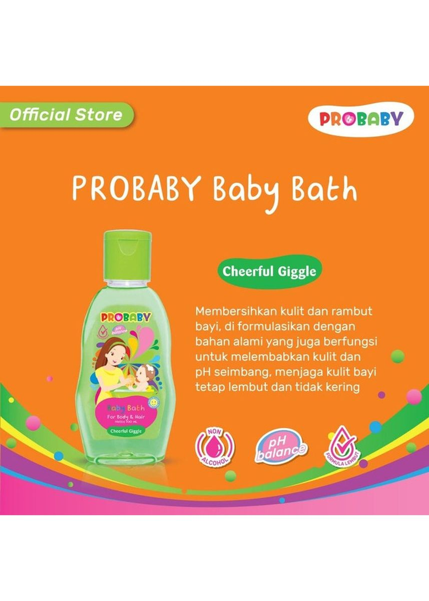 No Color color Body Wash . Probaby Baby Bath Hair & Body - Sabun Sampo Bayi 100ml - Cheerful Giggle -