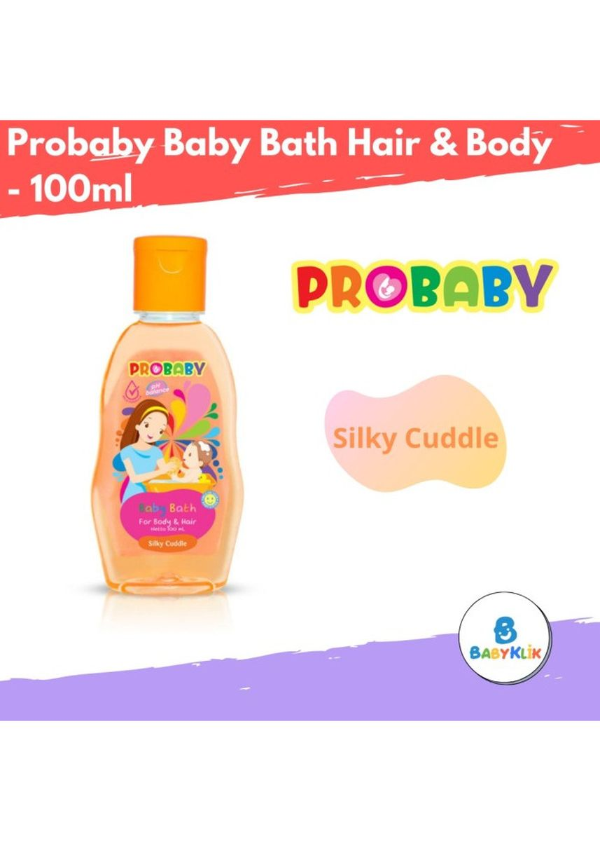 No Color color Body Wash . Probaby Baby Bath Hair & Body - Sabun Sampo Bayi 100ml - Silky Cuddle -