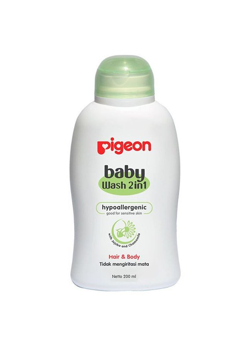 No Color color Body Wash . Pigeon Baby Wash Chamomile Hair & Body 2in1 Bottle - 200ml -