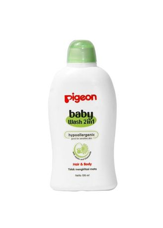 No Color color Body Wash . PIGEON BABY WASH CHAMOMILE HAIR & BODY 2IN1 BOTTLE - 100ML -