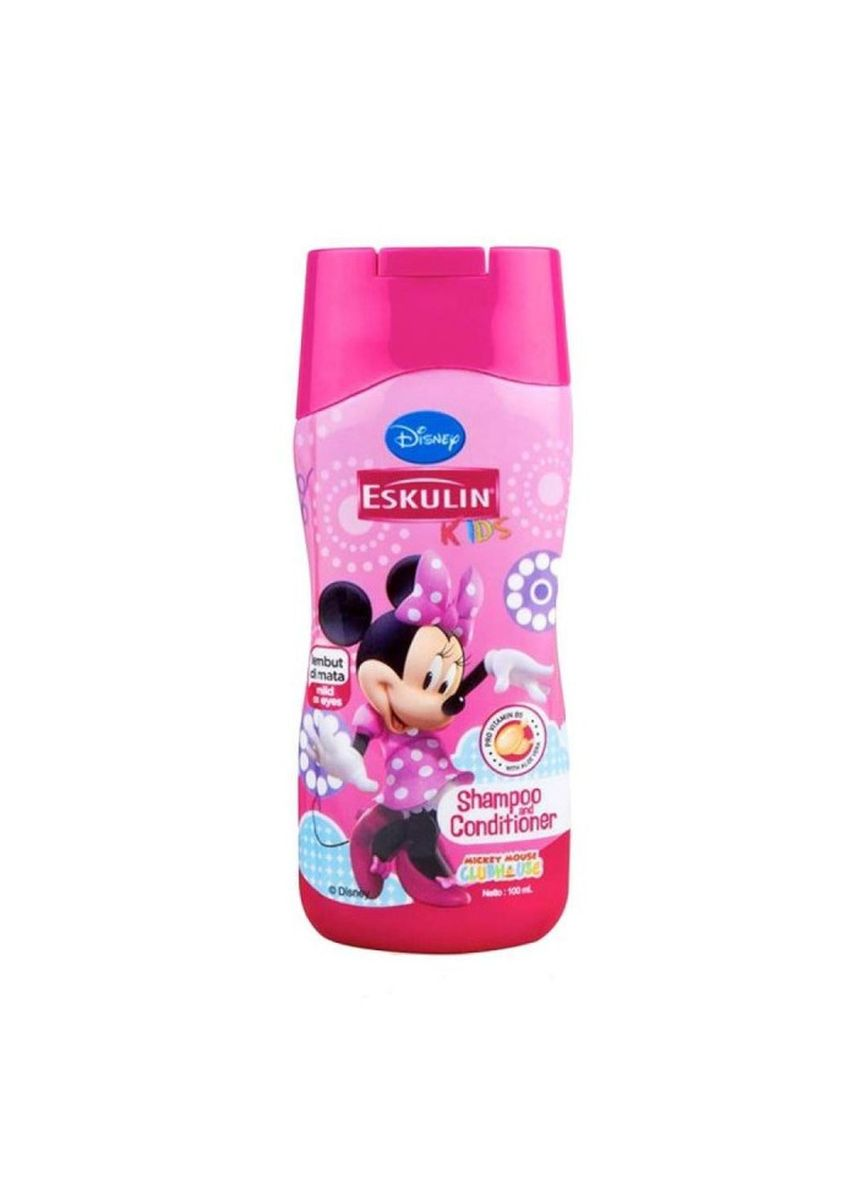 No Color color Hair Wash . Eskulin Kids Shampoo Dan Conditioner 200ml Botol Edisi Minni Mouse -