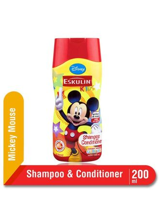 No Color color Hair Wash . Eskulin Kids Shampoo Dan Conditioner 200ml Botol Edisi Mickey Mouse -