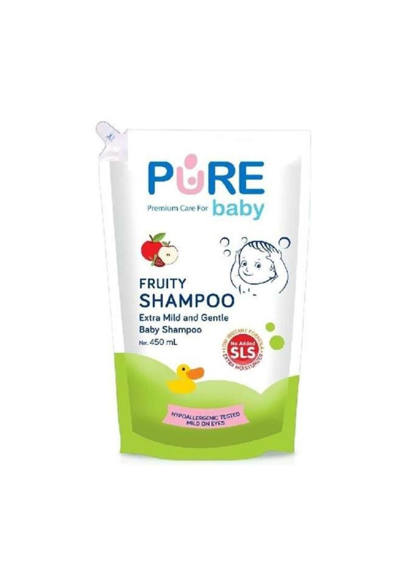 No Color color Hair Wash . Pure Baby Shampoo Bayi Fruity Refill 450ml -
