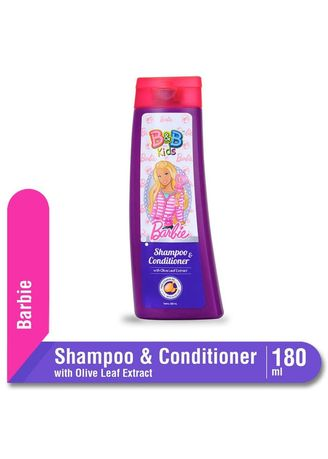 No Color color Hair Wash . B&B Kids Shampoo & Conditioner with Olive Leaf Extract 180ml Botol - Barbie Edition -
