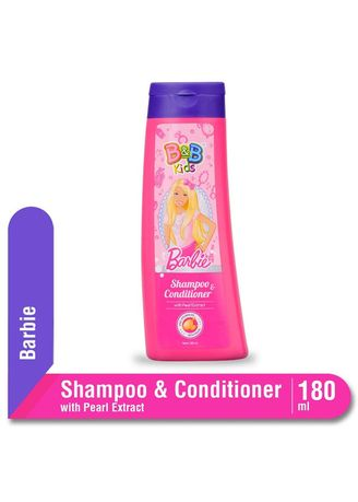 No Color color Hair Wash . B&B Kids Shampoo & Conditioner with Pearl Extract 180ml Botol - Barbie Edition -