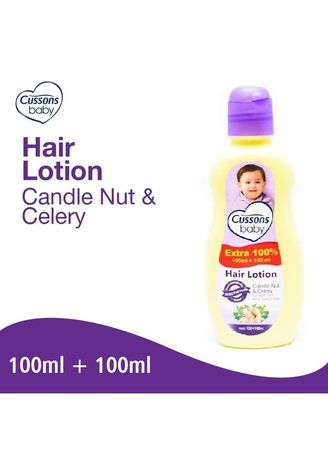No Color color Body Cream & Oil . Cussons Baby Hair Lotion Candle Nut & Celery Vitamin Rambut Bayi 200ml -