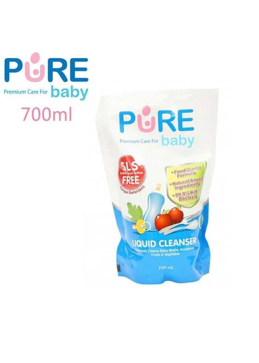 No Color color Body Wash . Pure Baby Liquid Cleanser Pembersih Botol Bayi 700ml -