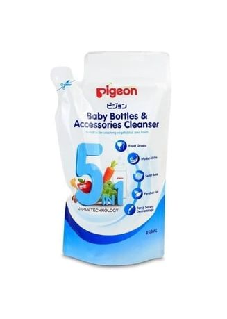 Tidak Berwarna color Sabun Cair & Pembersih . Pigeon Baby Bottles & Accessories Cleanser Liquid 450ml Refill -