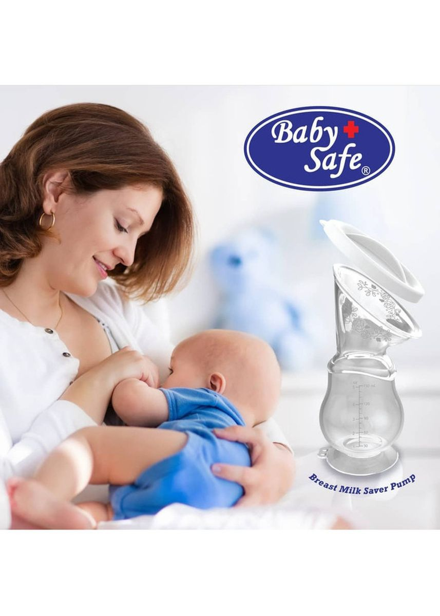 White color Breast Pump . Baby Safe Breastpump Pompa ASI Silicone 150ml -BPM02-Babyklik -