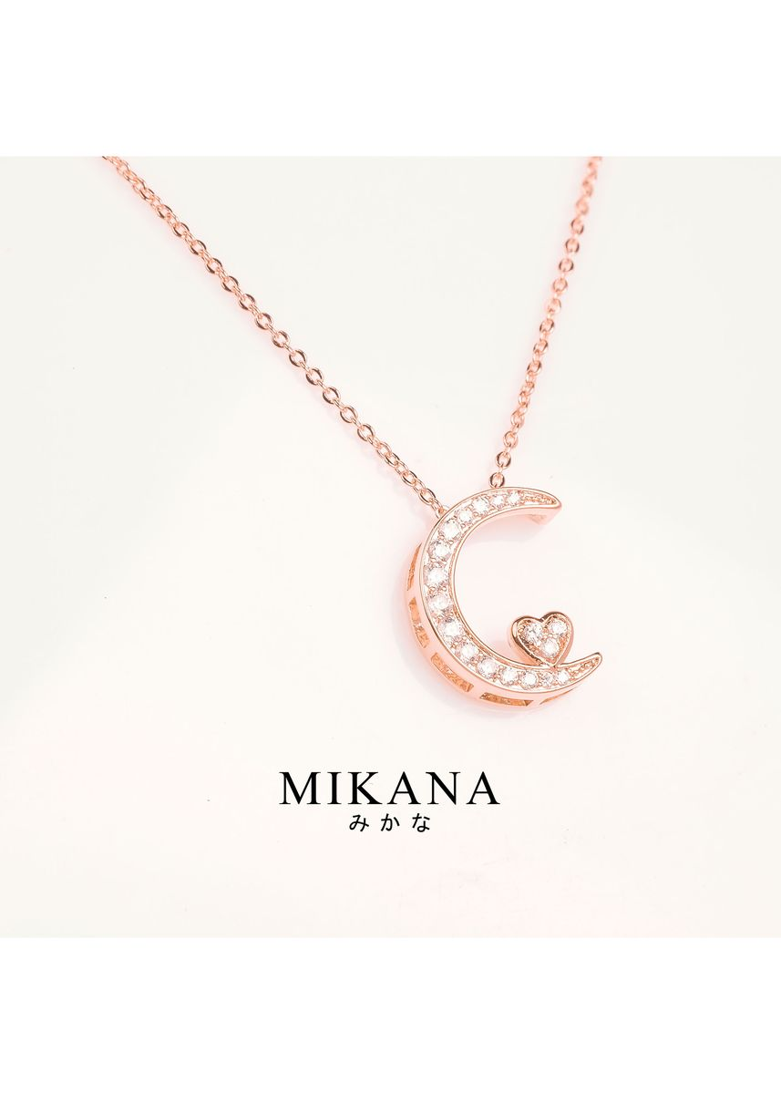 Gold color  . Mikana 18k Rose Gold Plated Fujie Pendant Necklace Accessories for Women -