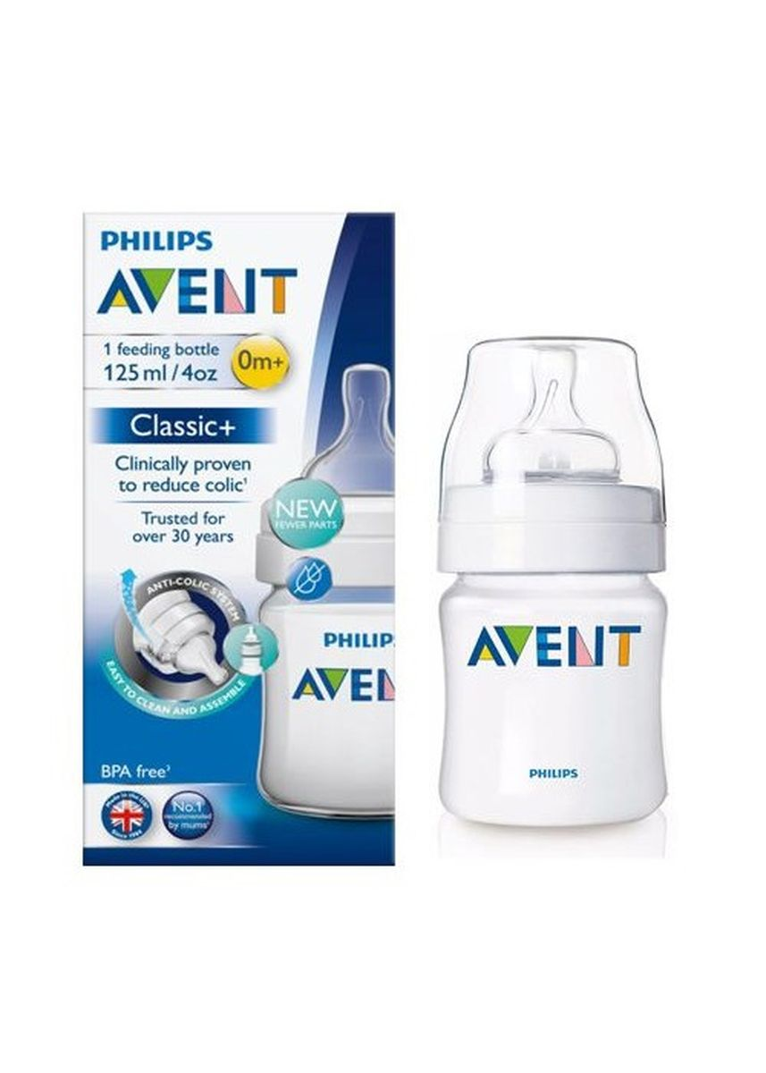 Putih color Botol Susu . Philips Avent Baby Classic Bottle 125ml Single Pack/ Botol Susu Dot -