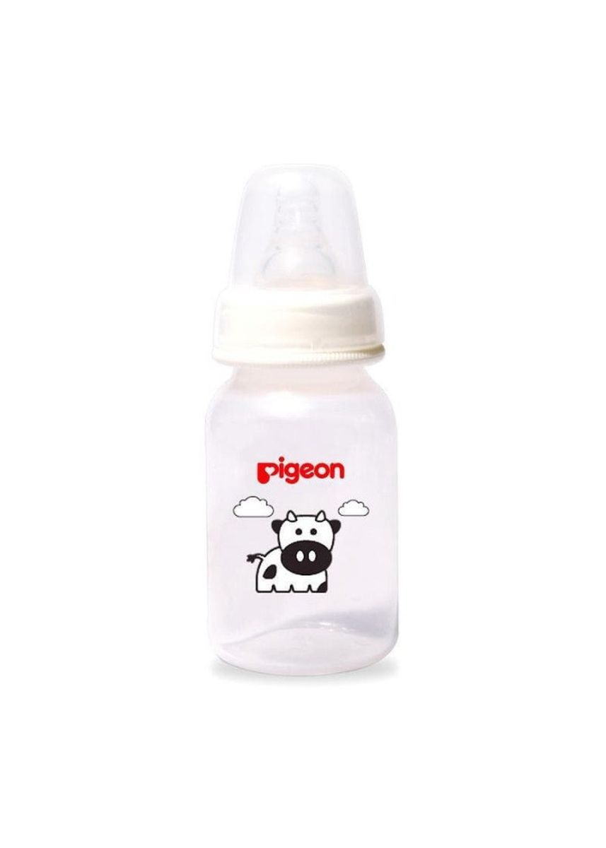 White color Feeding Bottle . Pigeon Pp Bottle With S-Type Nipple/ Botol Susu Dot 120ml - Sapi -
