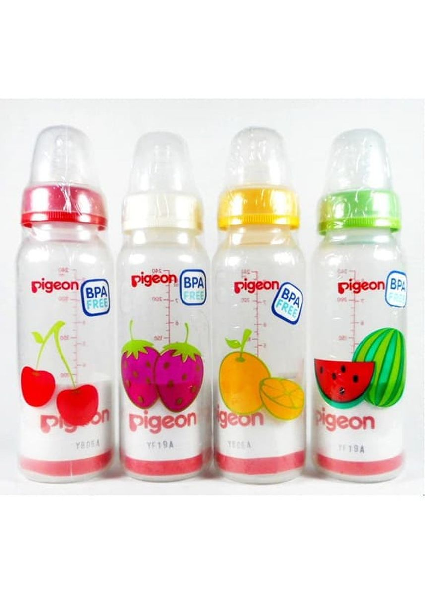 Red color Feeding Bottle . Pigeon Pp Bottle Peristaltic Nipple/Botol Susu Dot Character Eco 240ml -