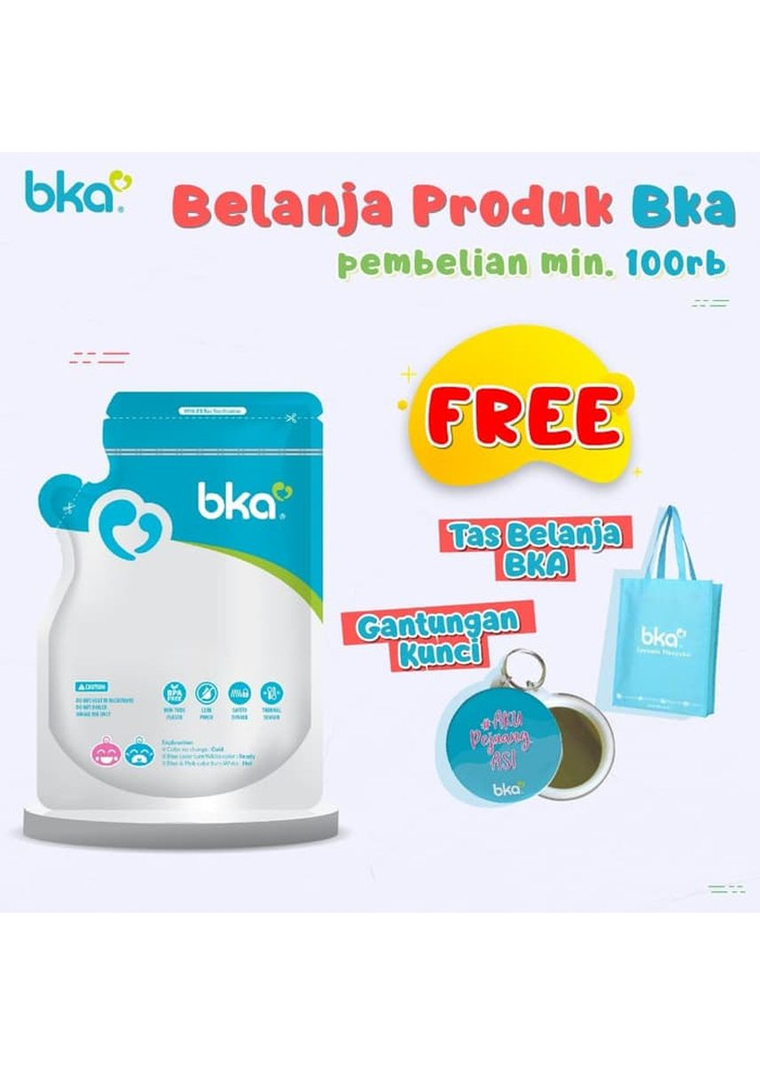 Blue color Feeding Bottle . BKA Breastmilk Bag Kantong Plastik ASI Menyusui 120ml Isi 30pcs -