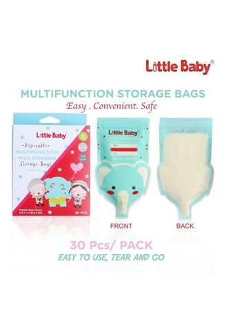 Blue color Feeding Bottle . Little Baby Milk Powder Kantong Asi Multifungsi Mpasi Susu Bubuk Bayi -