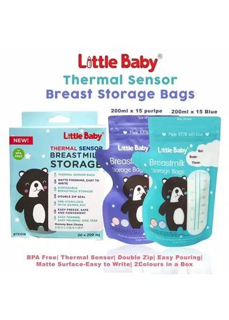 Multi color Botol Susu . Little Baby Thumb Style Breastmilk Storage Bags Kantong Asi 200ml 30pc -