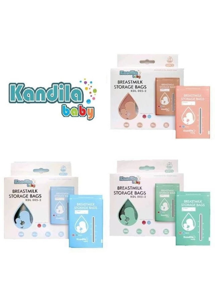 Red color Feeding Bottle . Kandila Breastmilk Storage Bags Kantong ASI Menyusui 120ml isi 30 -