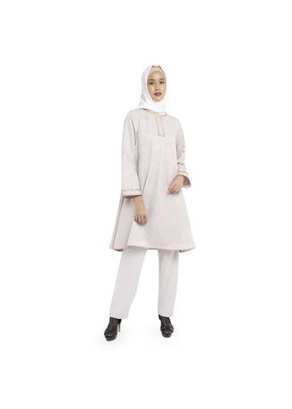 Khaki color Atasan . MENITA TUNIC -