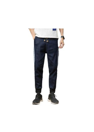 Blue color Jeans . Bluetrousers Youth Popular Logo Haroun Pants -