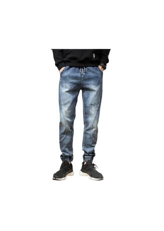 Blue color Jeans . Bluemale Japanese Popular Old Haroun Pants -