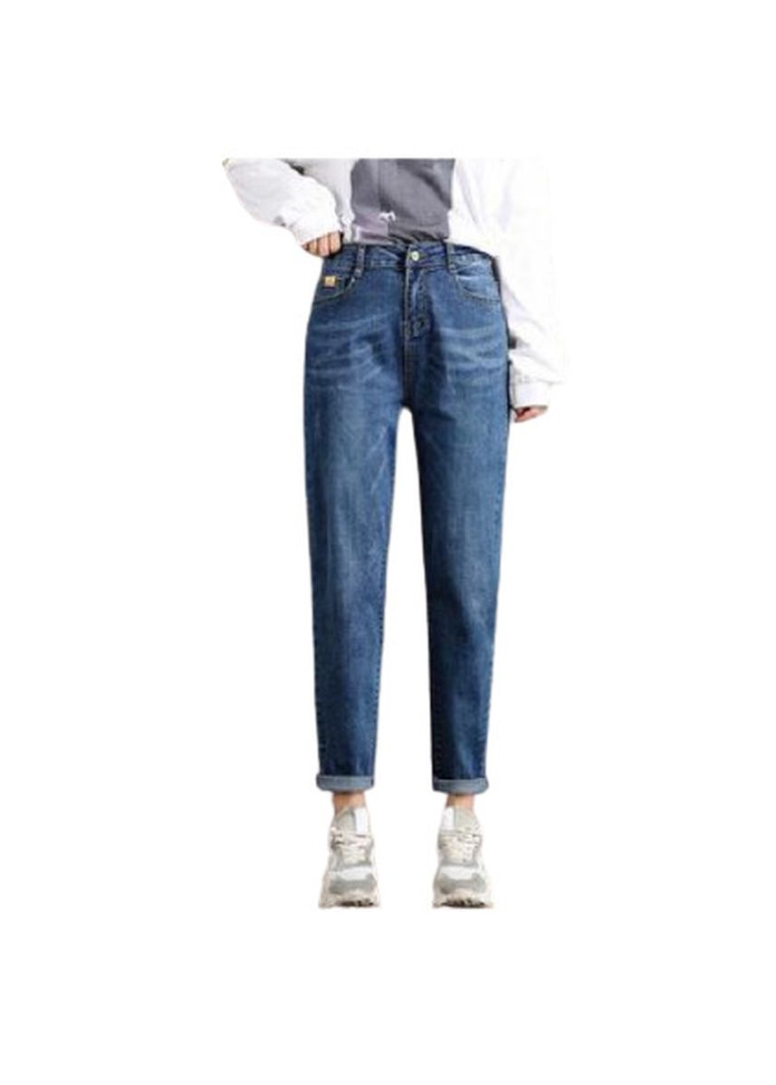 Blue color Jeans . Jin Yi Lai Light Blue Tall Waist Loose Dad Jeans -
