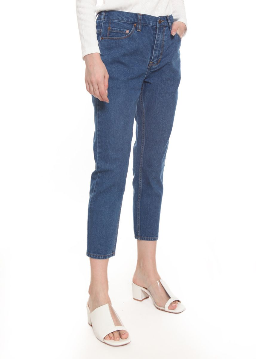 Biru color Celana Jeans . 2nd Red Mom Jeans in Mid Blue MJ2003 -