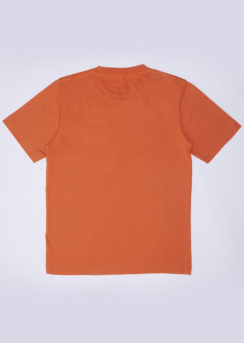 Orange color Tops . POLICE Kids Tshirt Cotton Combed -
