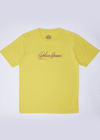 Yellow color Tops . POLICE Kids Tshirt Cotton Combed  -