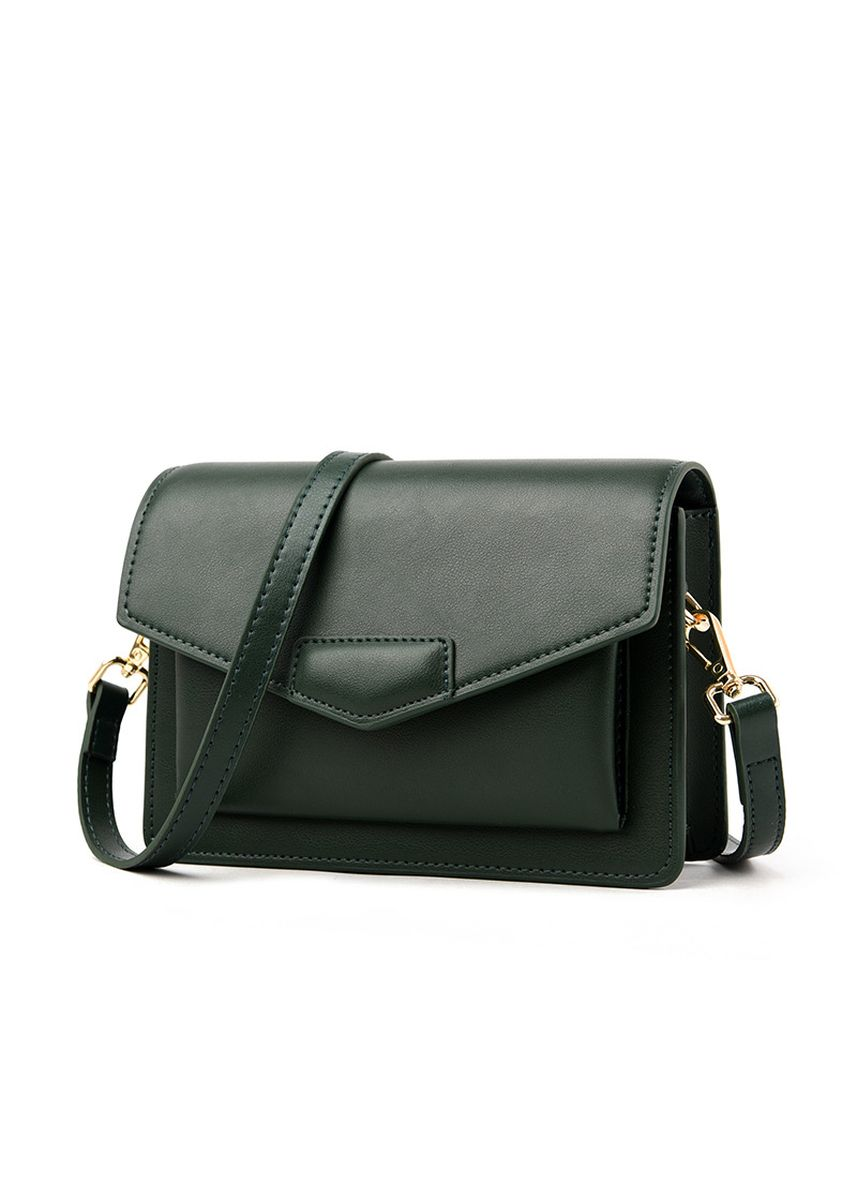 Green color Sling Bags . Green Leather Fashion Diagonal Sling Bag -