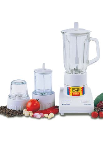 White color Hand Blenders . Miyako Blender Plastic 1 Liter 3in1 - BL102PL -