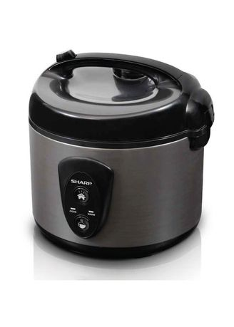 No Color color Electric Cookers . Sharp Rice Cooker 1.8 Liter Silver - KSN18MGSL -