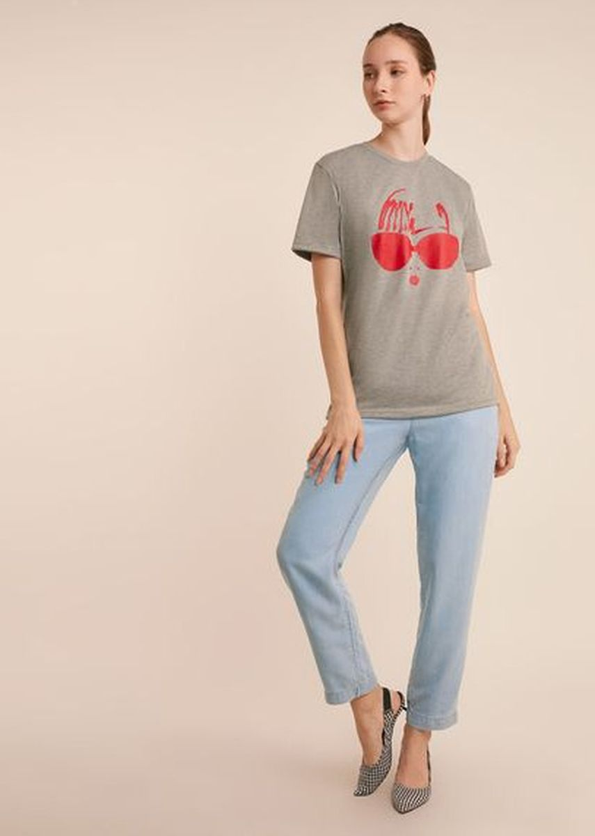 Grey color Tees & Shirts . Lowie Sleeve Tee -