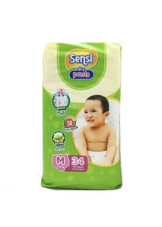 No Color color Diapers . Sensi Dry Pants Popok Celana M-34 -