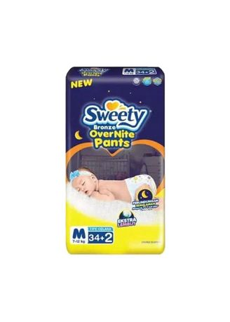 No Color color Diapers . Sweety Bronze Over Nite Pants Popok Celana M-34 -