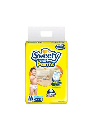 No Color color Diapers . Sweety Bronze Pants Popok Celana M-34+4 -