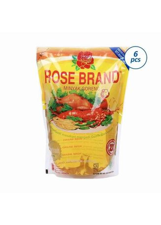 No Color color Cooking Oil . Rose Brand Minyak Goreng (6's x 2L) -