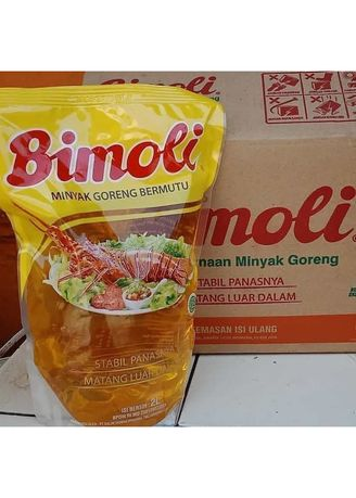 No Color color Cooking Oil . Bimoli Minyak Goreng Pouch (6's x 2L) -