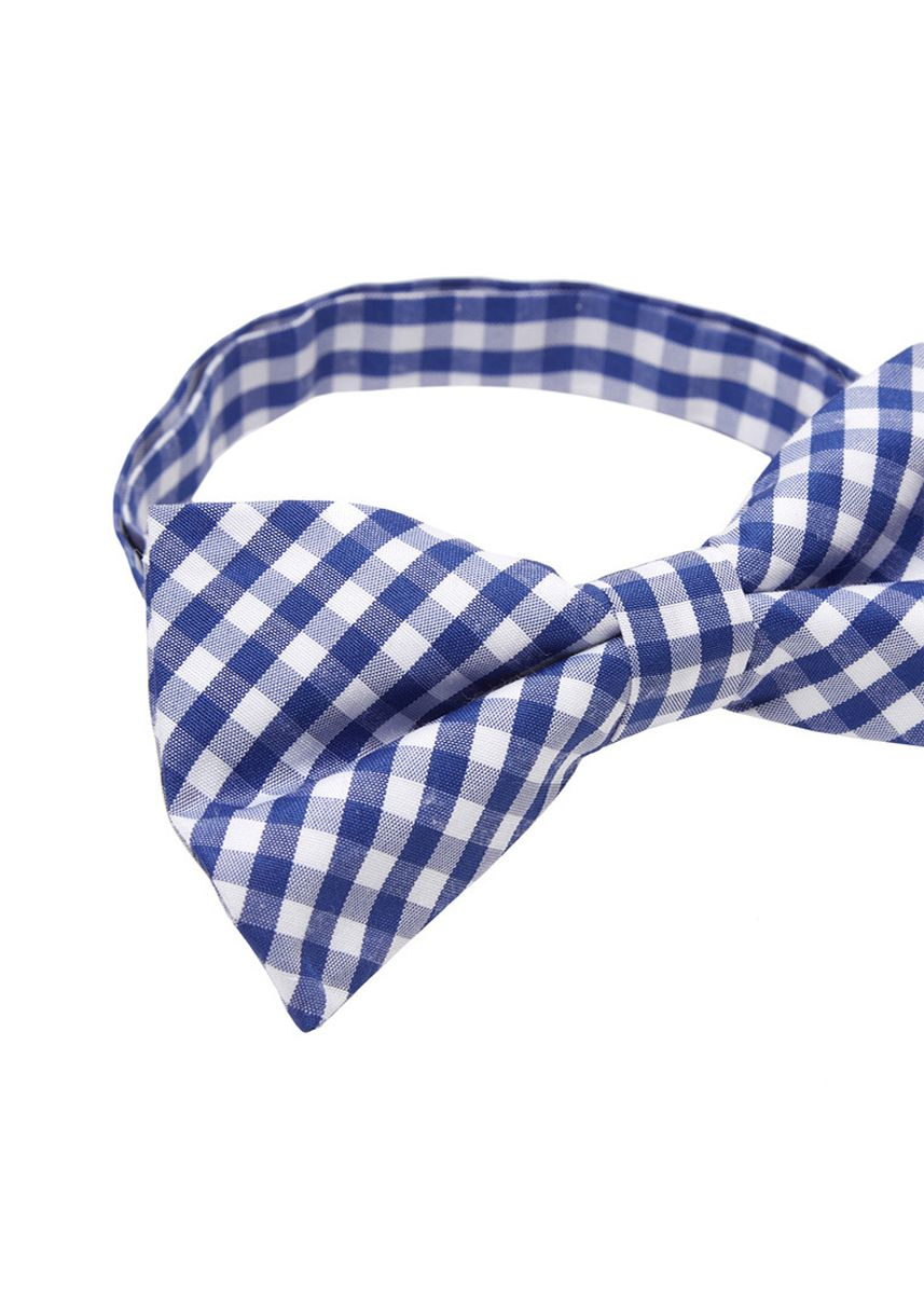 Blue color Ties . IDENTITY Mens Cotton Bowtie and Pocket Square Set - 27 -