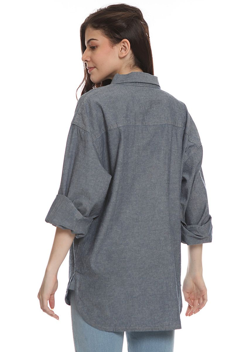 Grey color Tops and Tunics .  2nd Red Tunic Denim Size Plus OS2019 -