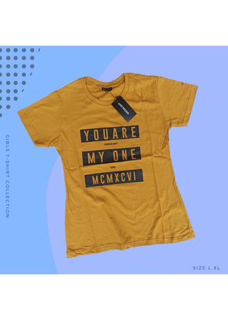Yellow color Tees & Shirts . T-SHIRT CEWEK Greenlight - 04 -