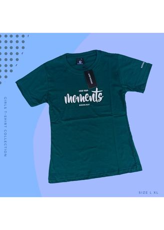 Green color Tees & Shirts . T-SHIRT CEWEK 3SECOND - 02 -