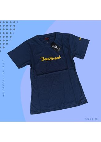 Navy color Tees & Shirts . T-SHIRT CEWEK 3SECOND - 03 -