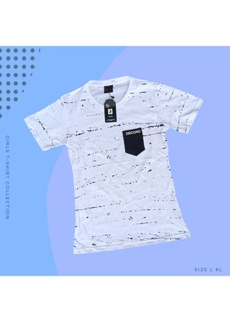 White color Tees & Shirts . T-SHIRT CEWEK 3SECOND - 04 -