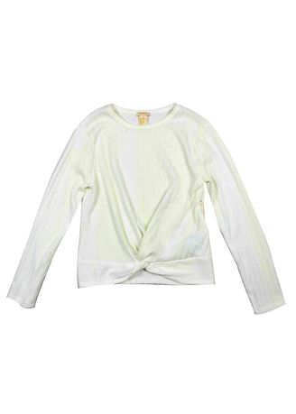 White color Tops . Forever 21 Girl's Knit Long Sleeve Top -