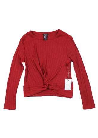 Maroon color Tops . Forever 21 Girl's Knit Long Sleeve Top -